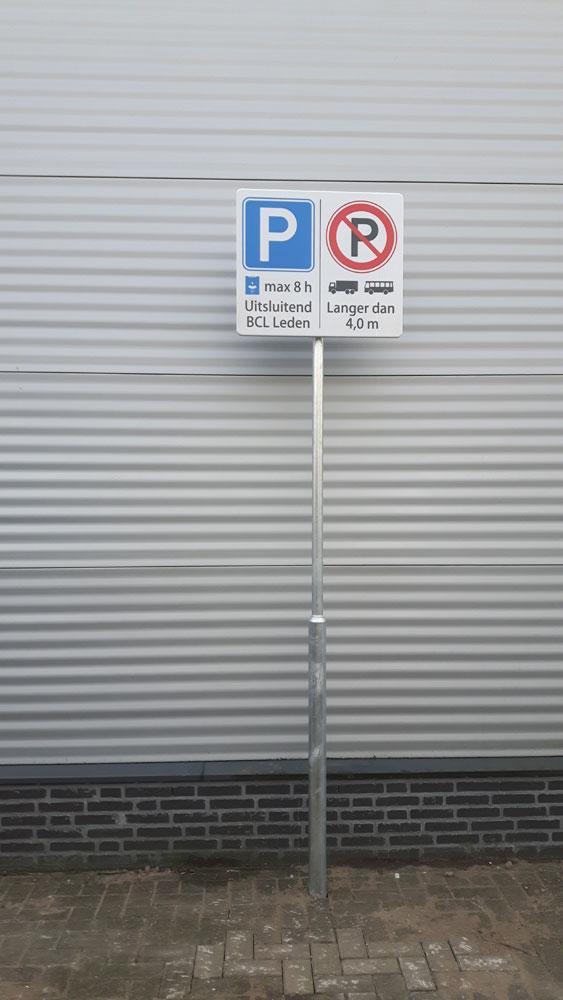 De Zwaluw - Parkeerbord